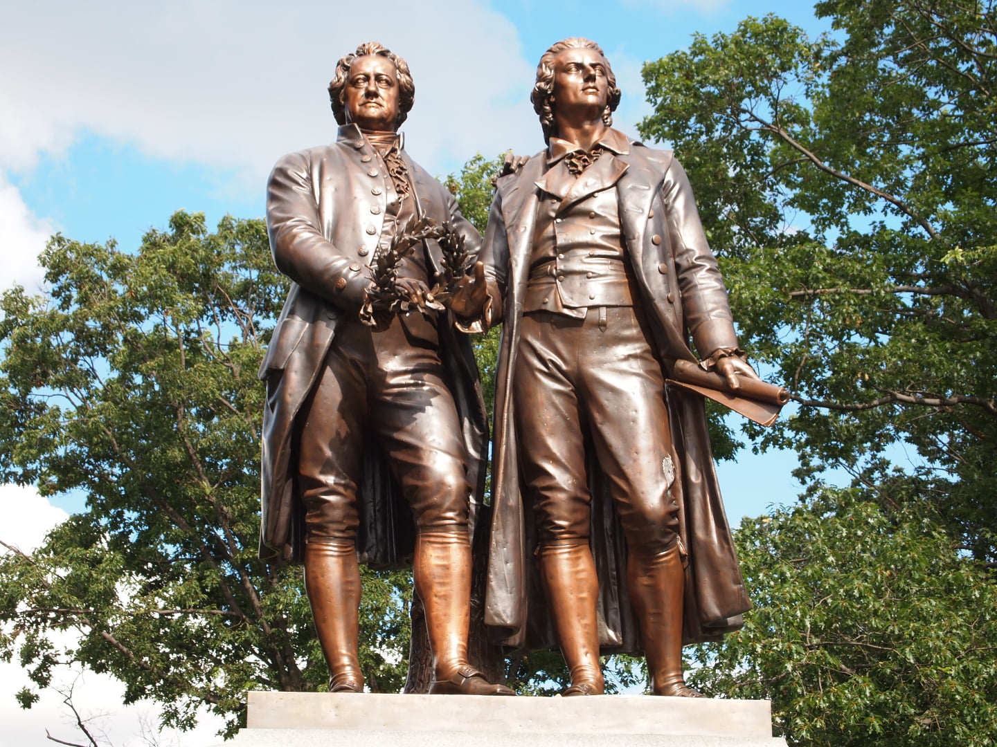 Goethe–Schiller Monument, Syracuse, New York State