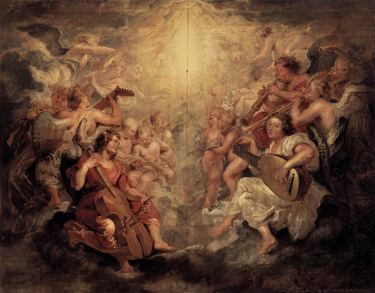 Music Making Angels by Peter Paul Rubens, Gemäldegalerie, Berlin State Museums