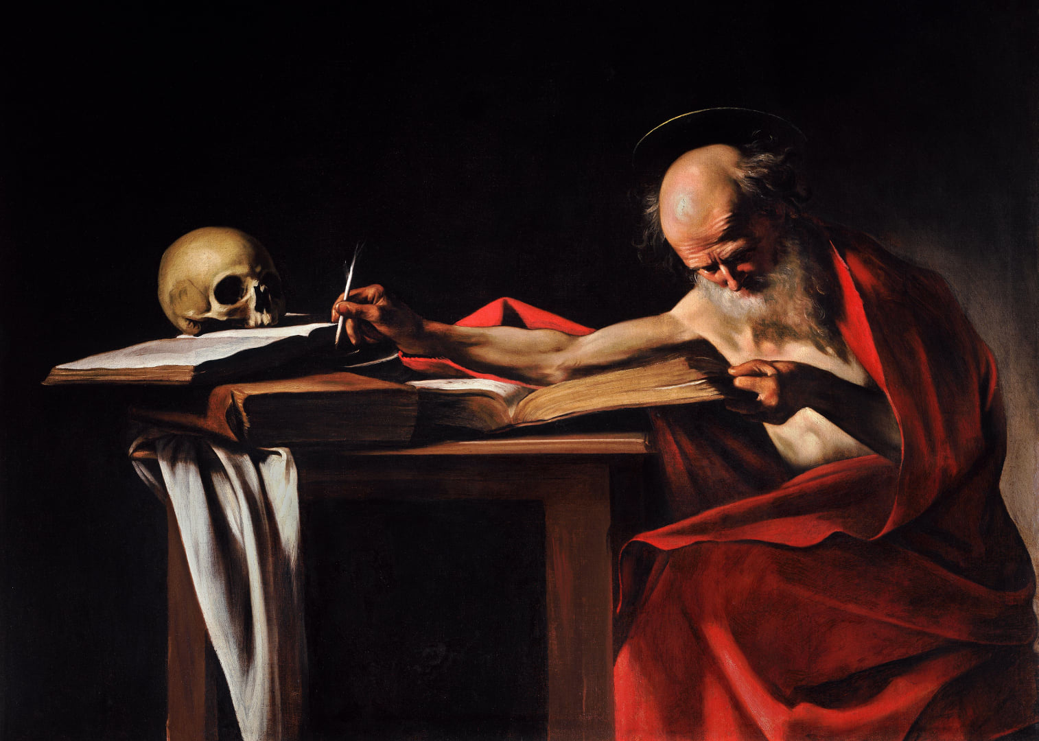 Saint Jerome Writing by Caravaggio, Galleria Borghese, Rome